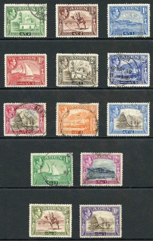 Aden SG6/27 1939 set of 13 Fine Used