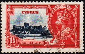 Cyprus. 1935 1 1/2pi S.G.145 Fine Used
