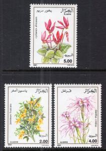 Algeria 936-940 Flowers MNH VF