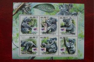 Mozambique 2011 MNH Animals Koalas Wildlife