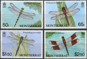 Montserrat #493-496 Dragonflies MNH