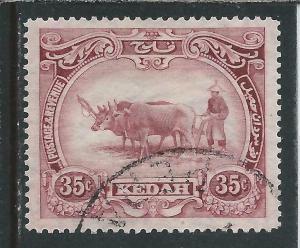 KEDAH 1922-40 35c PURPLE FU SG 59 CAT £48