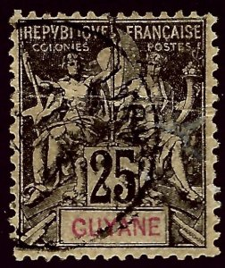 French Guiana SC#42 Used F-VF...Worth a Close look!!