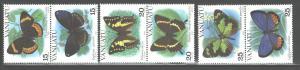 VANUATU 1983 MARINE LIFE - FISH #346-348(3 PAIRS0 MNH