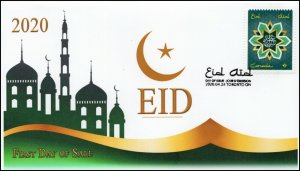 CA20-027, 2020, EID, Pictorial Postmark, First Day Cover,