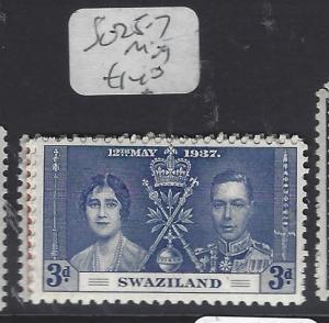 SWAZILAND  (P1510B)  KGVI  CORONATION SG 125-7   MOG