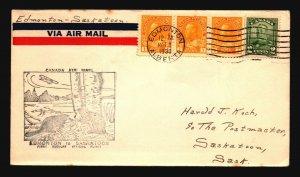 Canada 1930 FFC Edmonton to Saskatoon - Z17392