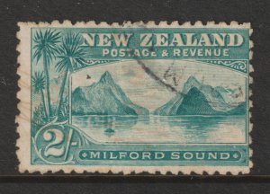 New Zealand a used 2/- Milford from the 1898 set
