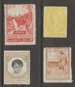 Europe mostly mint Cinderella stamp- Free Shipping- great prices 4-23b-2