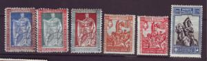 J20313 jlstamps 1928 from a set italy mh #201-6 designs