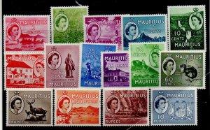 Mauritius 251-65 Set Mint Hinged