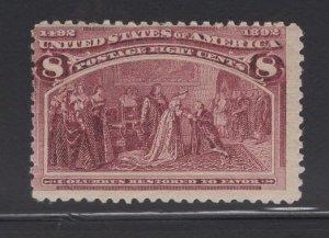 US Stamp Scott #236 Mint Never Hinged SCV $140