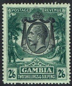 GAMBIA 1922 KGV ELEPHANTS 2/6