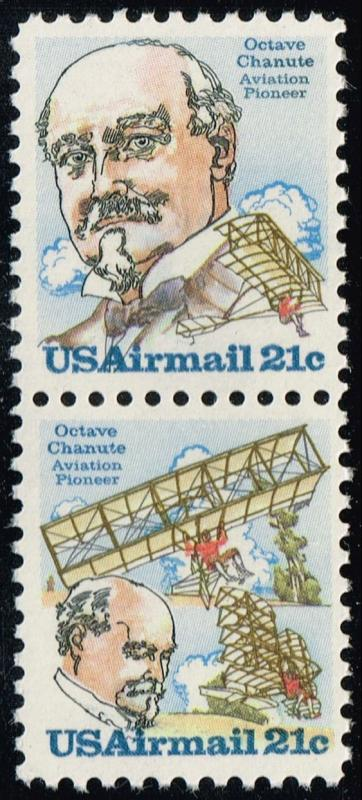 US #C94a Octave Chanute Se-tenant Pair; MNH (1.40)