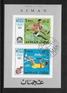 Ajman 1968 Souvenir Sheet (my4)