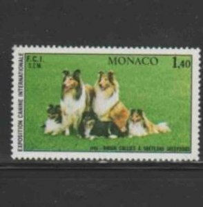 MONACO #1285 1981 INTERNATIONAL DOG SHOW MINT VF NH O.G