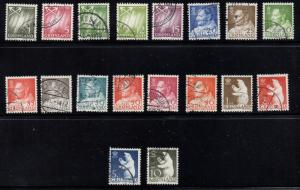 Greenland Sc 48-65 1963 King & Polar Bears stamp set used