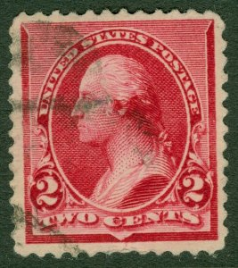 EDW1949SELL : USA 1890 Scott #220c Cap on both '2's Very Fine, Used. Catalog $35