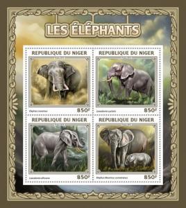 NIGER 2016 SHEET ELEPHANTS WILDLIFE nig16505a