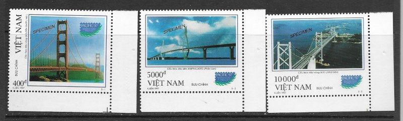 Vietnam 2768-70 Speciman issue, MNH vf
