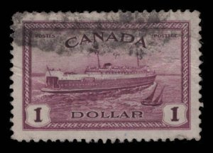 Canada Scott #273 Used eGraded With Certificate 100