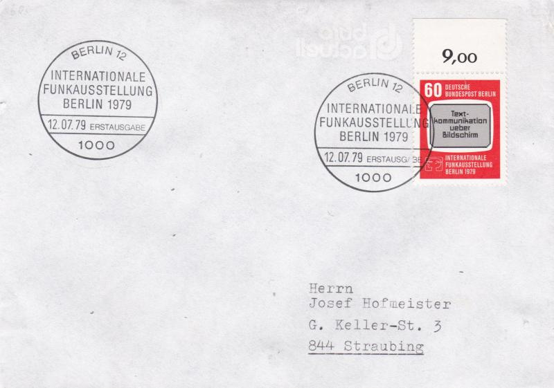 West Berlin 1979 International Broadcasting Exhibition FDC VGC