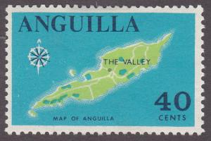 Anguilla 27 Map of the Island 1967