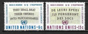 United Nations 177-78 Disarmament set MNH