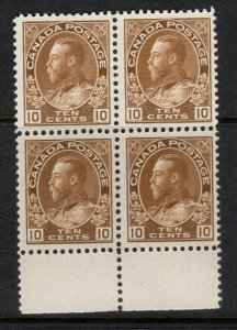 Canada #118 Very Fine Never Hinged Perfect Gum Block