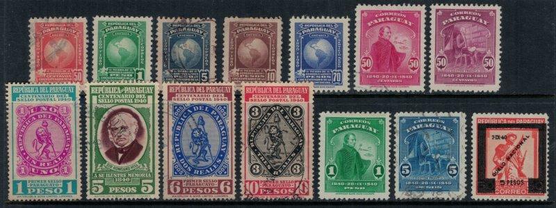 Paraguay #374-86,C128*/u  CV $6.20