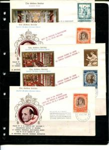 Vatican 1965 - 10 FDC , unaddressed VF - 50 cents each !