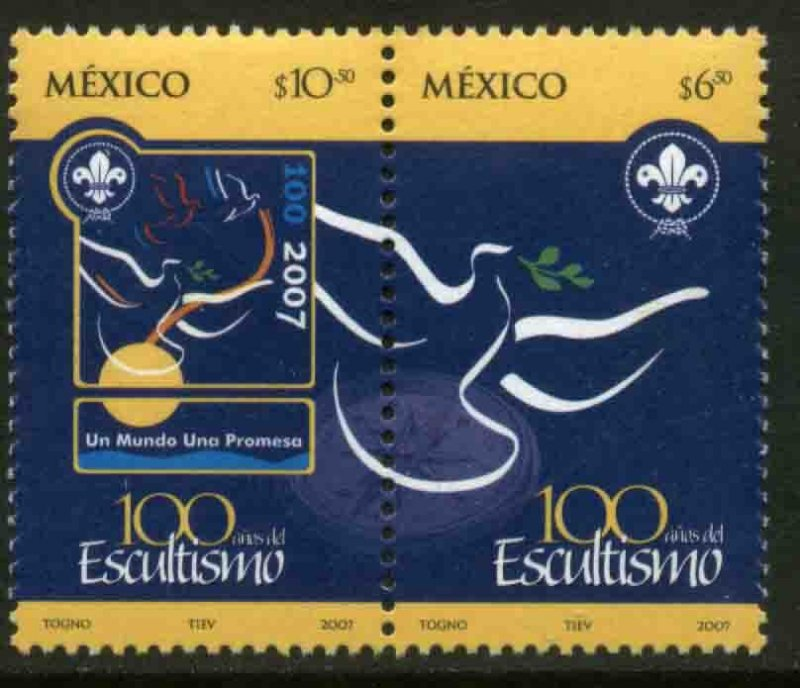 MEXICO 2542a, Centenary of the Scouts Organization PAIR. MINT, NH. VF.