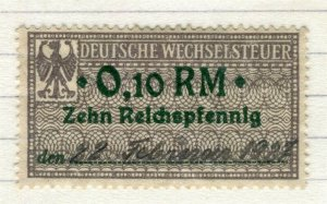 GERMANY; 1920s early Revenue issue fine used early value, 0.10RM