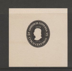 Costa Rica Proof on lite card? 9-12-3 postal mint