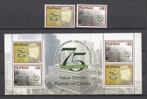 Z3848, 2006 philippines set + s/s mnh #3053-54a designs