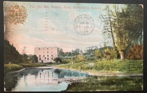 1907 Canada Color Picture Postcard Cover Old Mill Humber River
