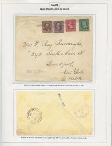 GUAM #1-4 ON COVER MAY 22,1900 CV $1,250 BS8485 HS108G