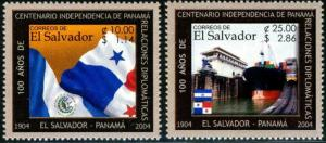 HERRICKSTAMP SALVADOR Sc.# 1596-97 Panama Independence (Flags)