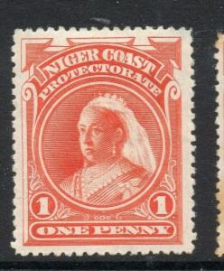 Niger Coast 1894-97 Early Issue Fine Mint Hinged 1d. 303803