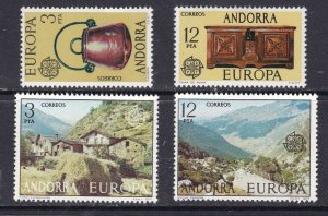 ANDORRA (  SPANISH  ) ^^^^^^1976  x2  mint hinged EUROPAS sets $$@ cam1834and