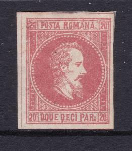 Romania a 20p red MH from 1865