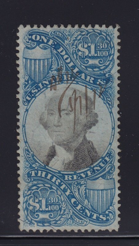 R119 VF used revenue stamp neat cancel with nice color cv $ 800 ! see pic !