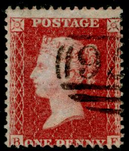 SG40, 1d rose-red, LC14, FINE USED. Cat £12. BF