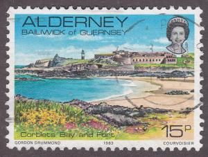 Alderney 9 Hinged 1983 Corblets Bay And Fort