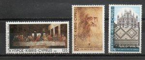 Cyprus MNH 562-4 Da Vinci's Visit To Cyprus 1981