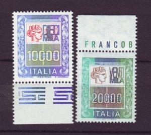 J22654 Jlstamps 1977-87 italy hv,s of set mnh #1296-7 italia