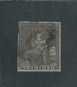 TRINIDAD 1851 (1d) BROWNISH-GREY FU SG 6 CAT £80