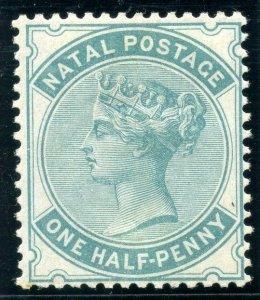 Natal 1884 QV ½d blue-green MLH. SG 97. Sc 65.