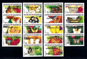 [71229] Barbuda 1988 Insects Butterflies OVP Barbuda Mail 18 Values MNH