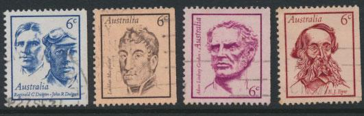 SG 479-482  Fine Used  Famous Australians  3rd Series - right imperf margins